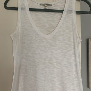 Express One Eleven White Tank Top